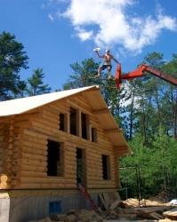 cabin-building