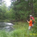 This is a river near the cabin.  There is good fishing everywhere!
