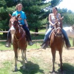 There are specially designated horseback riding trails near the cabin, and a horse ranch about 35 minutes away.
